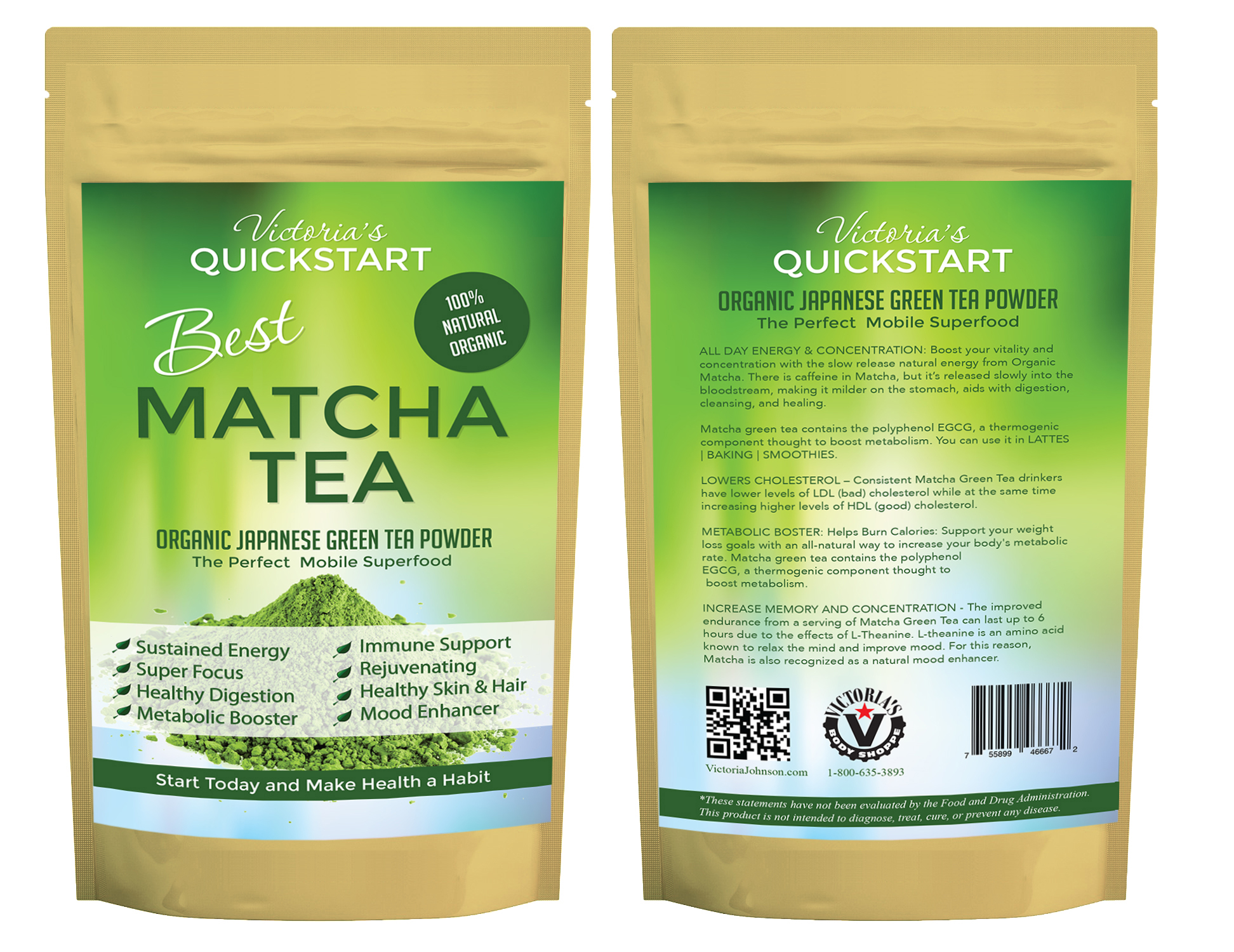 victoria's best japanese matcha green tea powder